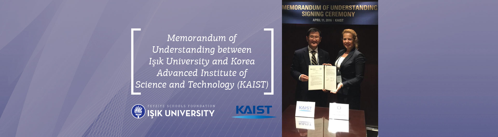 Memorandum of Understanding between Işık University and Korea Advanced Institute of Science and Technology (KAIST)