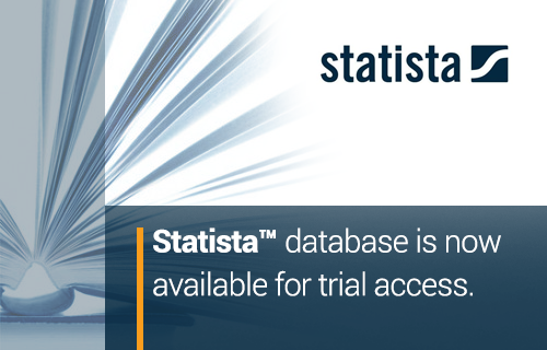 Statista database is now available for trial access.
