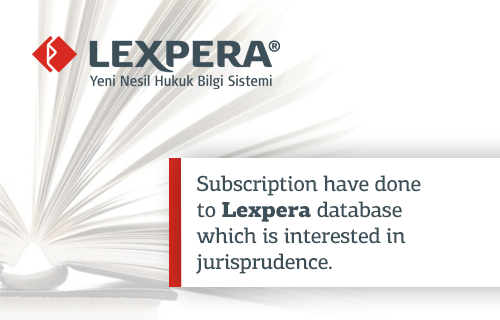 Subscription have done to Lexpera database which is interested in jurisprudence.