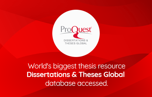 World's biggest thesis resource Dissertations & Theses Global  database accessed