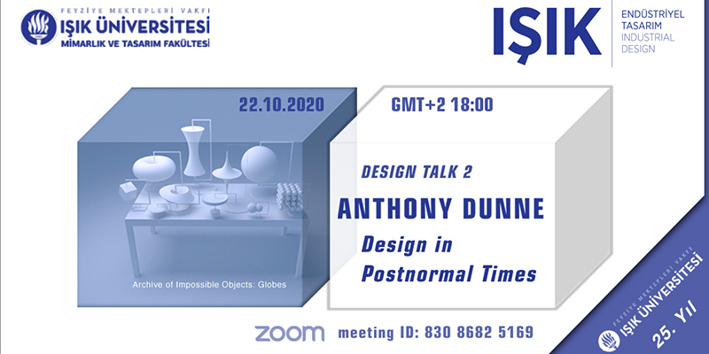 Design Talk 2'nin Konuğu Anthony Dunne