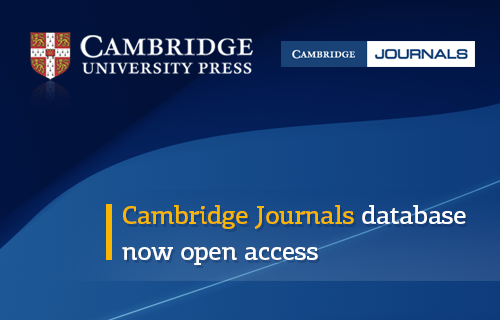 Cambridge Journals database now open access