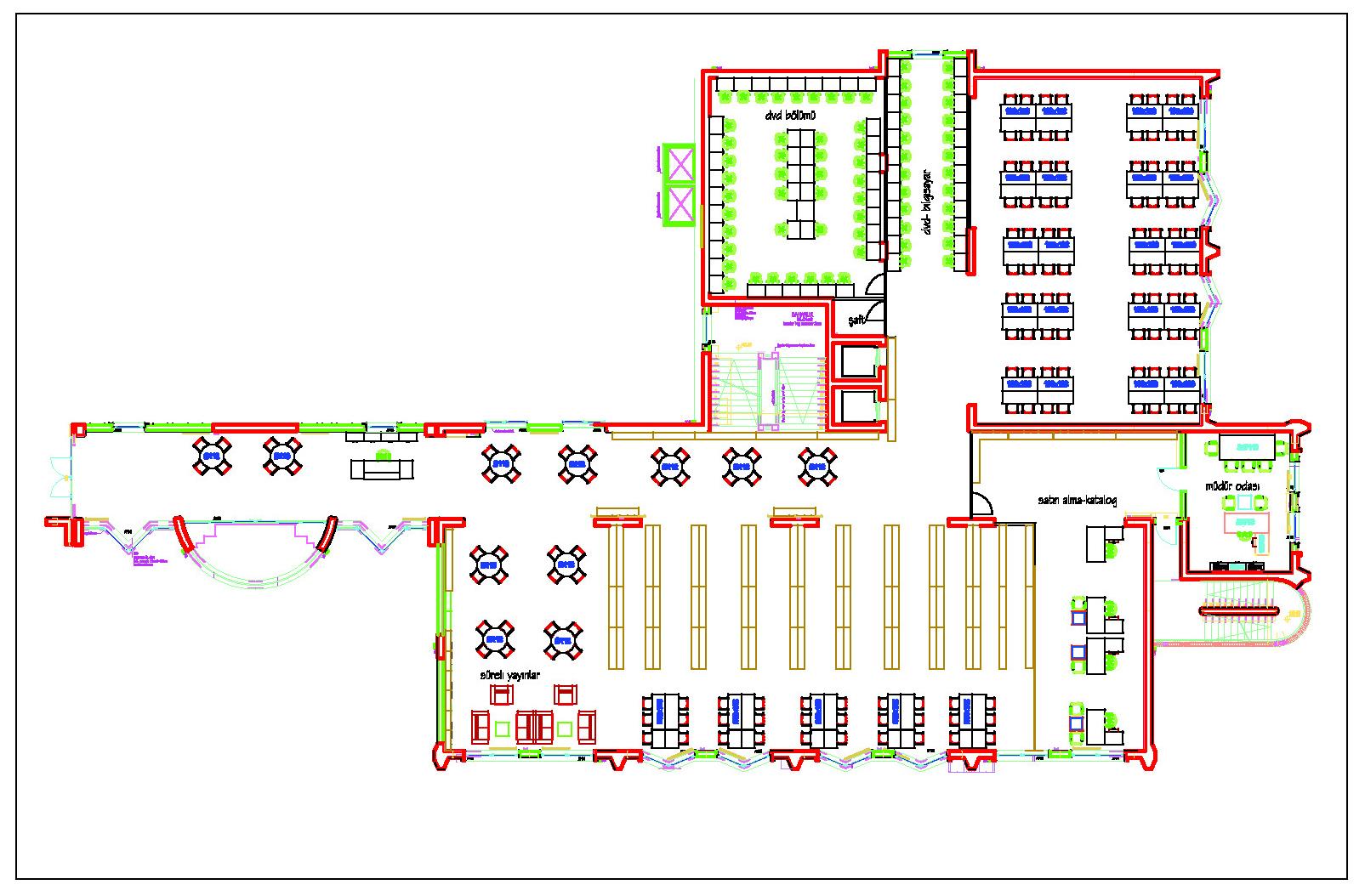 Online Floor Plan Layout Yerleşim Planı Işık 220 Niversitesi